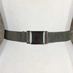 Vintage 90s Belt Silver Metal Mesh
